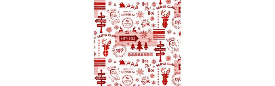 jolie collection de tissus patchwork d'hiver et noël, de studio E