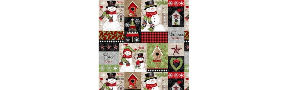 tissu pour le patchwork sur le thème de Noël et de l hiver, studio E