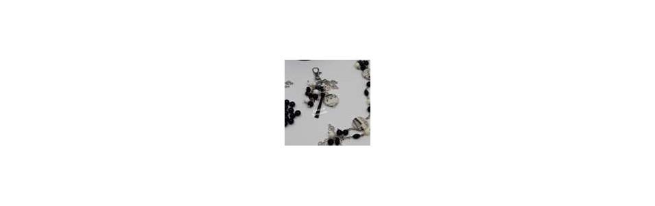 porte clef, bijou de sac  en perles marque Anis et Bergamote