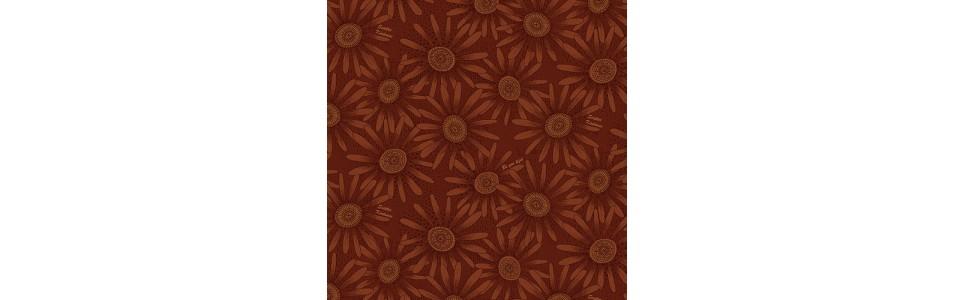 tissus patchwork aux couleurs d'automne