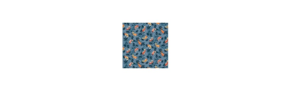 tissus patchwork coloris bleu: toute une gamme dans différents bleu