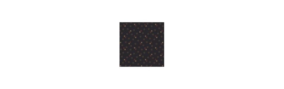 tissu patchwork coloris noirs et foncé