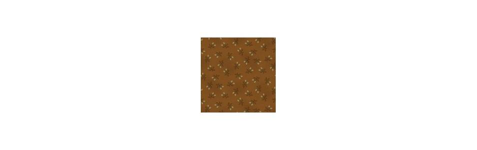 tissu pour le patchwork dans une gamme de marron