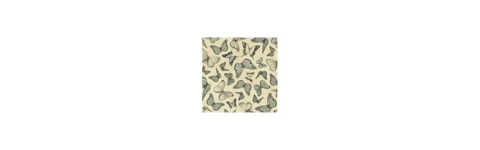 Collection Mirabelle, Santoro, tissu pour le patch et la déco.