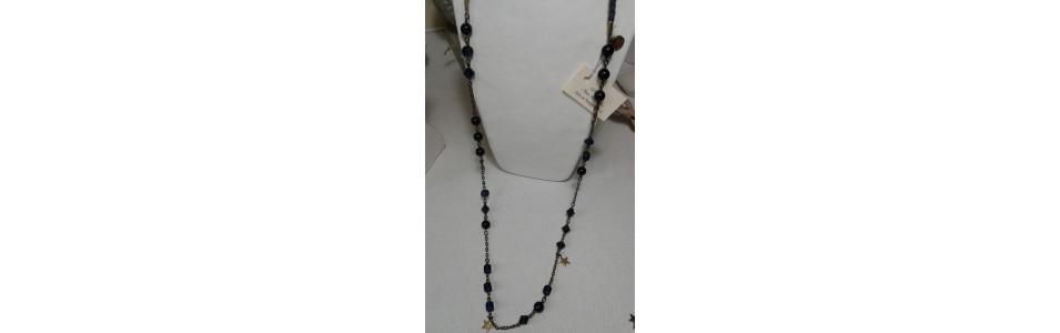 Les sautoirs Anis et Bergamote, perles de verre, cristal swarovski