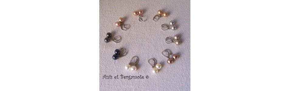les boucles d'oreilles Anis et Bergamote