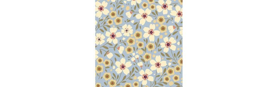 tissus patchwork sur le thème du jardin, collection plant kindness