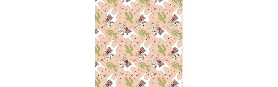 tissu patch sur le thème des lamas