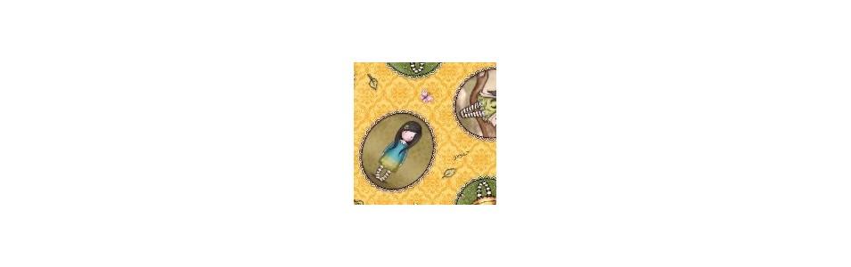 Gorjuss, Santoro, tissu patchwork, Collection Birds of the feather