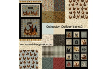 collection de tissu patchwok Quilter Barn de Beth albert